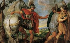 Картинка Pieter Paul Rubens, мифология, Деций Мус Отсылает Своих Ликторов к Титу Манлию, Питер Пауль Рубенс, …