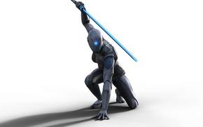 Картинка sword, game, robot, armor, ken, blade, ninja, cyborg, shinobi, Raw Data