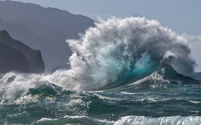 Картинка море, брызги, волна