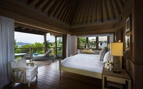 Обои интерьер, балкон, бунгало, спальня