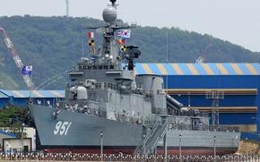 Картинка корабль, музей, военный, Южная Корея, Ulsan