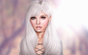 Картинка фон, блондинка, милашка