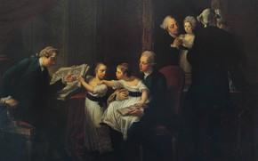 Картинка Классицизм, Анжелика Кауфман, взрослые и дети, Семья Тауншенд