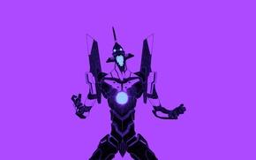Картинка евангелион, Neon Genesis Evangelion, берсерк, ева-01, EVA Unit 01