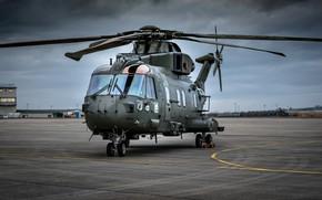 Картинка авиация, вертолет, аэродром, AgustaWestland, AW101 Merlin