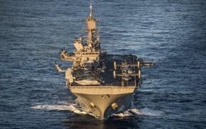 Картинка корабль, десантный, Универсальный, USS America, (LHA 6)