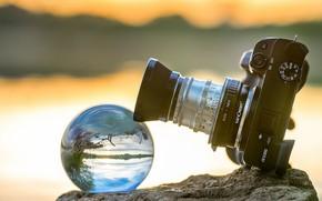 Картинка шар, объектив, фотик