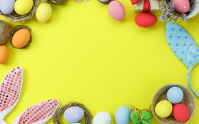 Картинка яйца, весна, colorful, Пасха, spring, Easter, eggs, decoration, Happy, tender