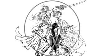 Картинка чёрно-белая, style, комикс, manga, random, Stjepan Sejic, chicks, Nebezial