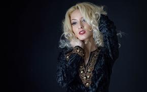 Картинка волосы, платье, блондинка
