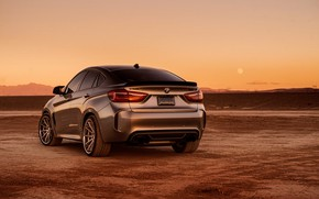 Картинка дизайн, фон, вид сзади, BMW X6M