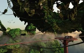 Картинка сооружение, объект, платформа, Forrest on the planet Sherwood, avatar terrain
