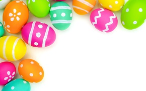 Картинка colorful, Пасха, background, spring, eggs, Happy Easter, Easter eggs