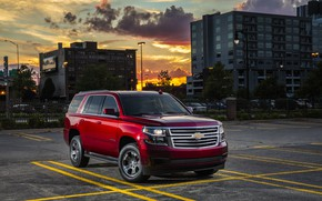Обои City, Urban, 2018, SUV, Tahoe, Внедоожник, Chevroet