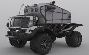 Картинка транспорт, техника, автомобиль, Survivalist's RV Concept, retrotruck