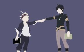 Картинка anime, asian, manga, mahou, japonese, madoshi, Black Clover, Asta, Yuno