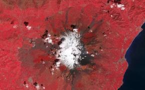 Обои Этна, фото, НАСА, гора, Сицилия, вулкан