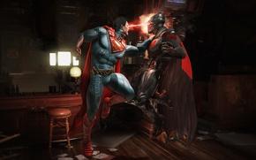 Картинка fire, battlefield, flame, game, Batman, fight, bat, Superman, hero, DC Comics, Bruce Wayne, yuusha, spark, …