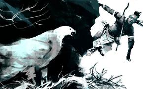 Картинка птица, воин, ястреб, индеец