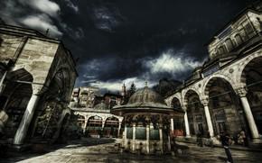 Картинка HDR, Стамбул, Турция, Istanbul, Turkey, Bayezid mosque, Мечеть Баезид