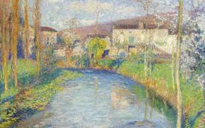 Картинка пейзаж, картина, Анри-Жан Гильом Мартин, Henri Matrin, Река Ло Весной