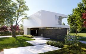 Обои Villa Aries, строение, дизайн