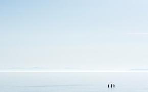Обои люди, небо, море