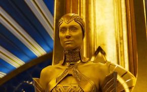 Картинка cinema, golden, woman, yellow, alien, movie, film, Guardians of the Galaxy, Guardians of the Galaxy …