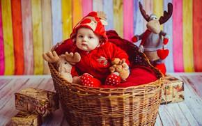 Картинка корзина, мальчик, костюм, Игрушки, Малыш, кроха