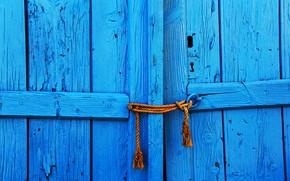 Обои ставни, blue, door
