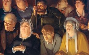 Картинка масло, портрет, картина, холст, Театральная Публика, Hippolyte Michaud