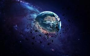 Обои Planet, sci fi, destruction