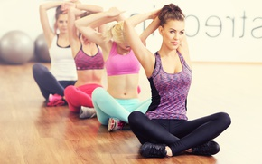 Картинка group, elongation, Yoga, class, women