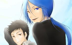 Картинка аниме, арт, парни, Rokudou Mukuro, Katekyo Hitman REBORN!, Yamamoto Takeshi