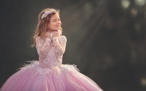Картинка улыбка, платье, девочка, Meg Bitton