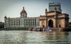 Картинка Река, Индия, Архитектура, River, Architecture, Mumbai, Мумбаи, İndia