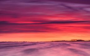 Картинка облака, зарево, Нидерланды, Южная Голландия