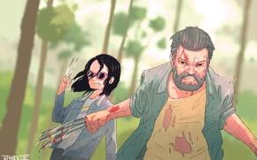 Картинка Hugh Jackman, Logan, art, wolverine, x-23