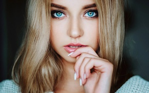 Картинка портрет, Поля, губки, зубки, Evgeny Freyer, Polina Grents, Евгений Фрейер, Полина Костюк