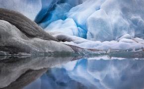 Картинка вода, снег, лёд