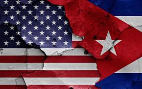 Картинка wall, USA, flag, Cuba