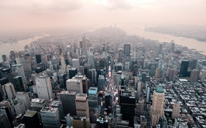 Обои перспектива, город, New York