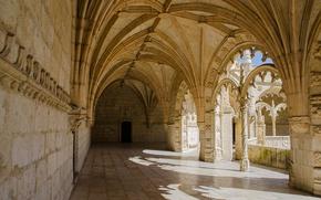 Обои Жеронимуш, монастырь, Португалия, архитектура, Лиссабон