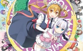 Картинка girl, anime, dragon, japanese, maid, bishojo, seifuku, Miss Kobayashi's Dragon Maid
