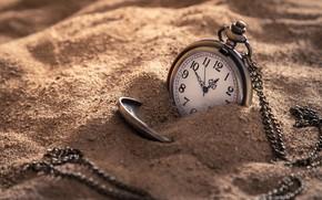 Картинка песок, часы, цепочка