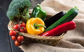 Картинка перец, овощи, цуккини