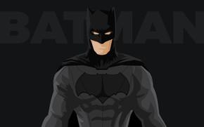 Картинка фантастика, надпись, черный, вектор, маска, костюм, Бэтмен, черный фон, Batman, супергерой, комикс