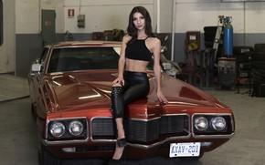 Картинка взгляд, лицо, стиль, модель, красотка, автомобиль, DANIELA