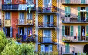 Картинка Франция, дома, балкон, фасад, Соспель