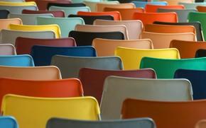 Картинка фон, цвет, стулья